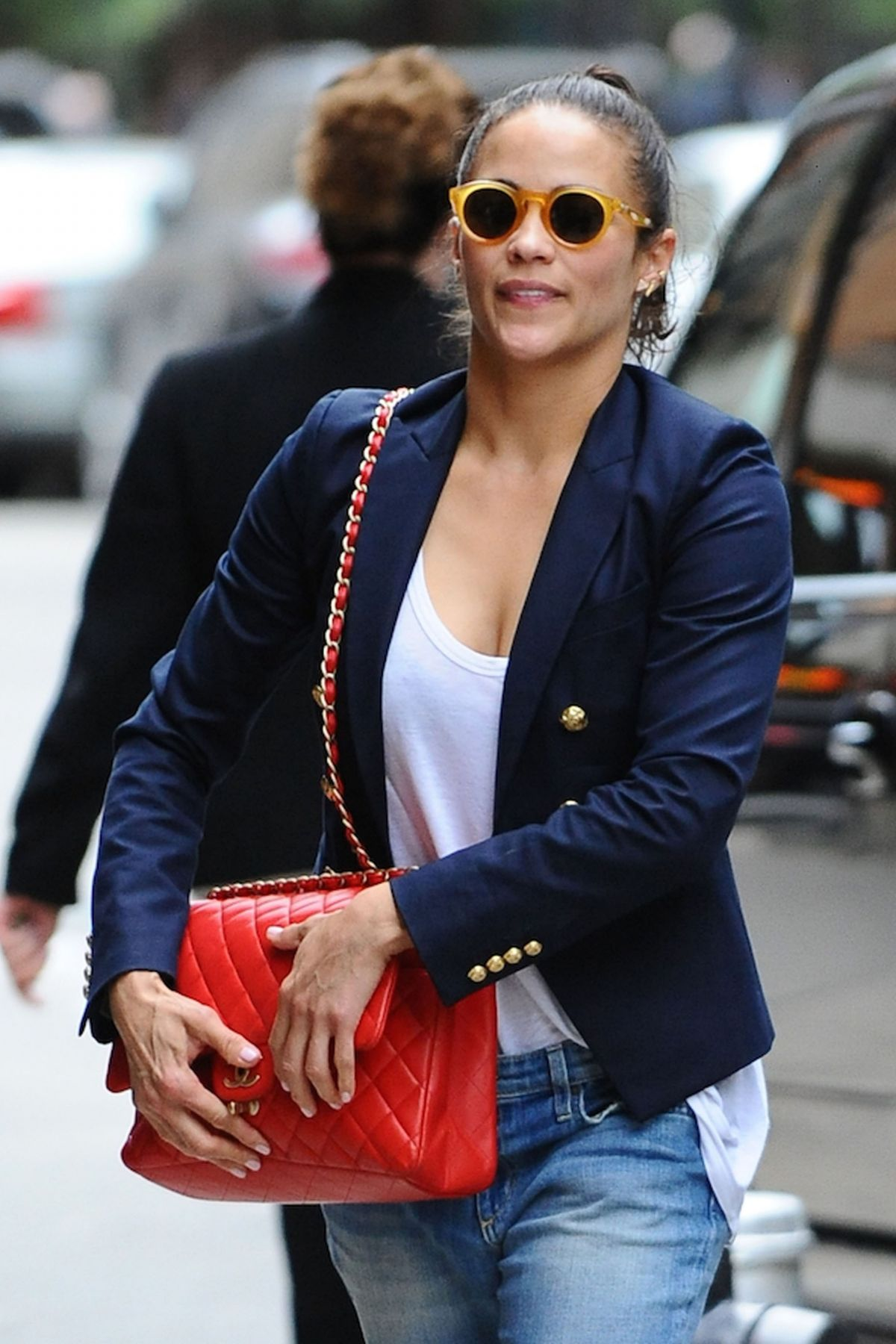 PAULA PATTON Arrives at Her Hotel in New York 06/07/2016