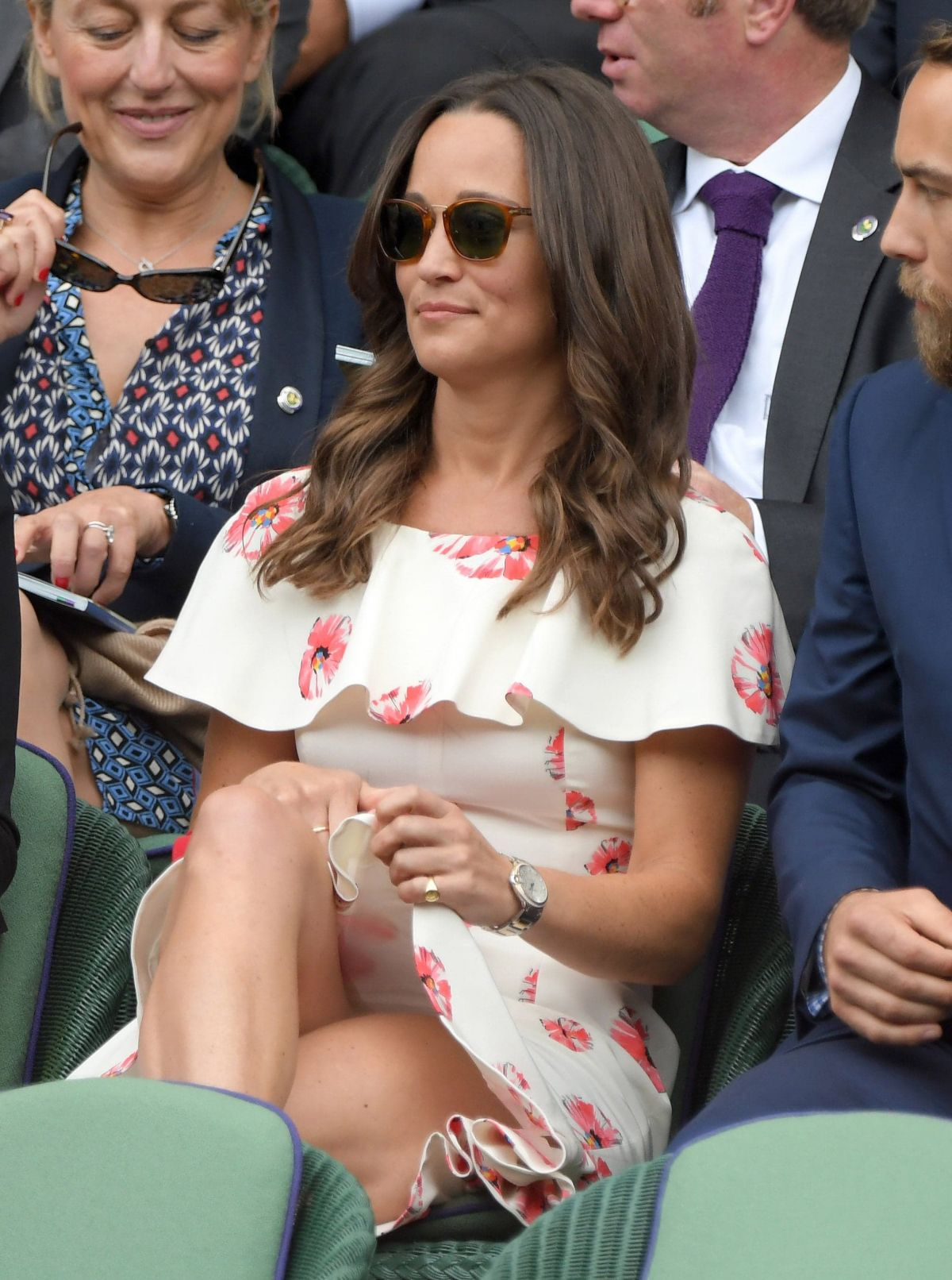PIPPA MIDDLETON at Day One of Championships in Wimbledon 06/27/2016