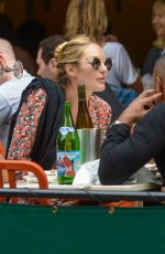 Pregnant CANDICE SWANEPOEL and DOUTZEN KROES at Bar Pitty in New York 06/05/2016