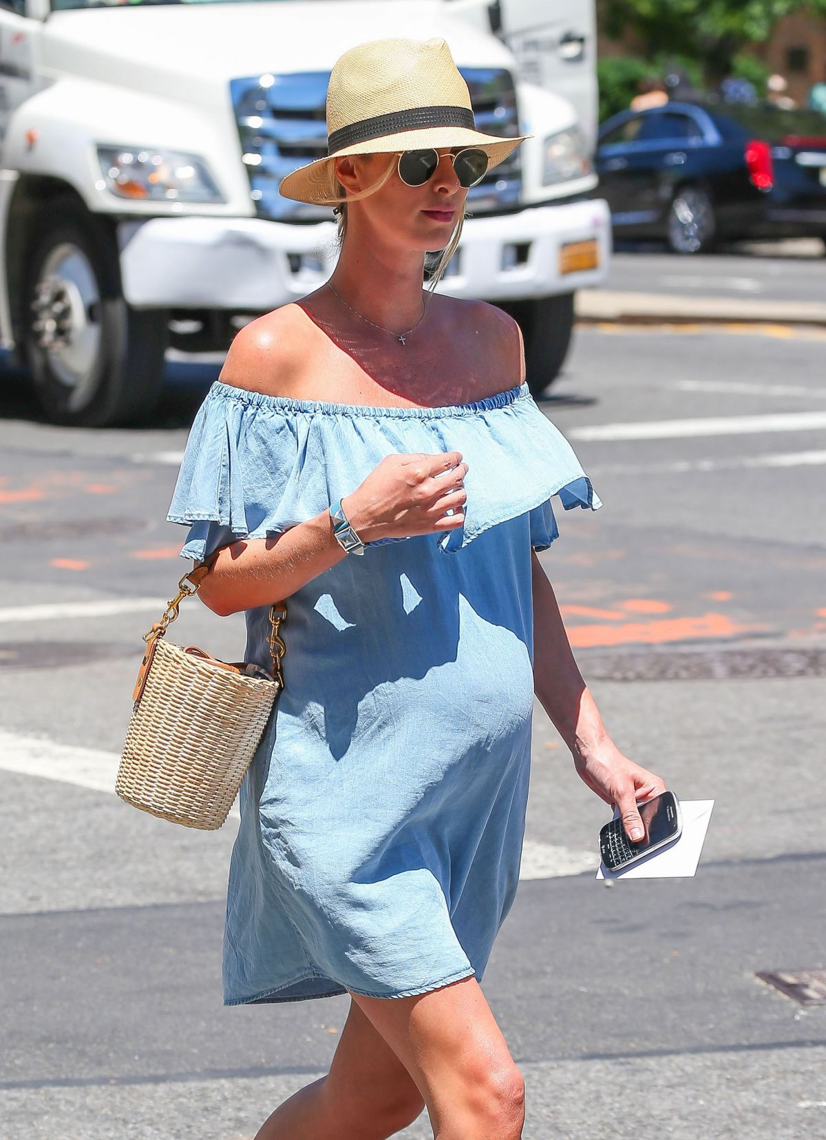 Pregnant NICKY HILTON Out and About in New York 06/14/2016