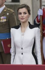 QUEEN LETIZIA at Armed Forces Day Hommage in Madrid 05/28/2016