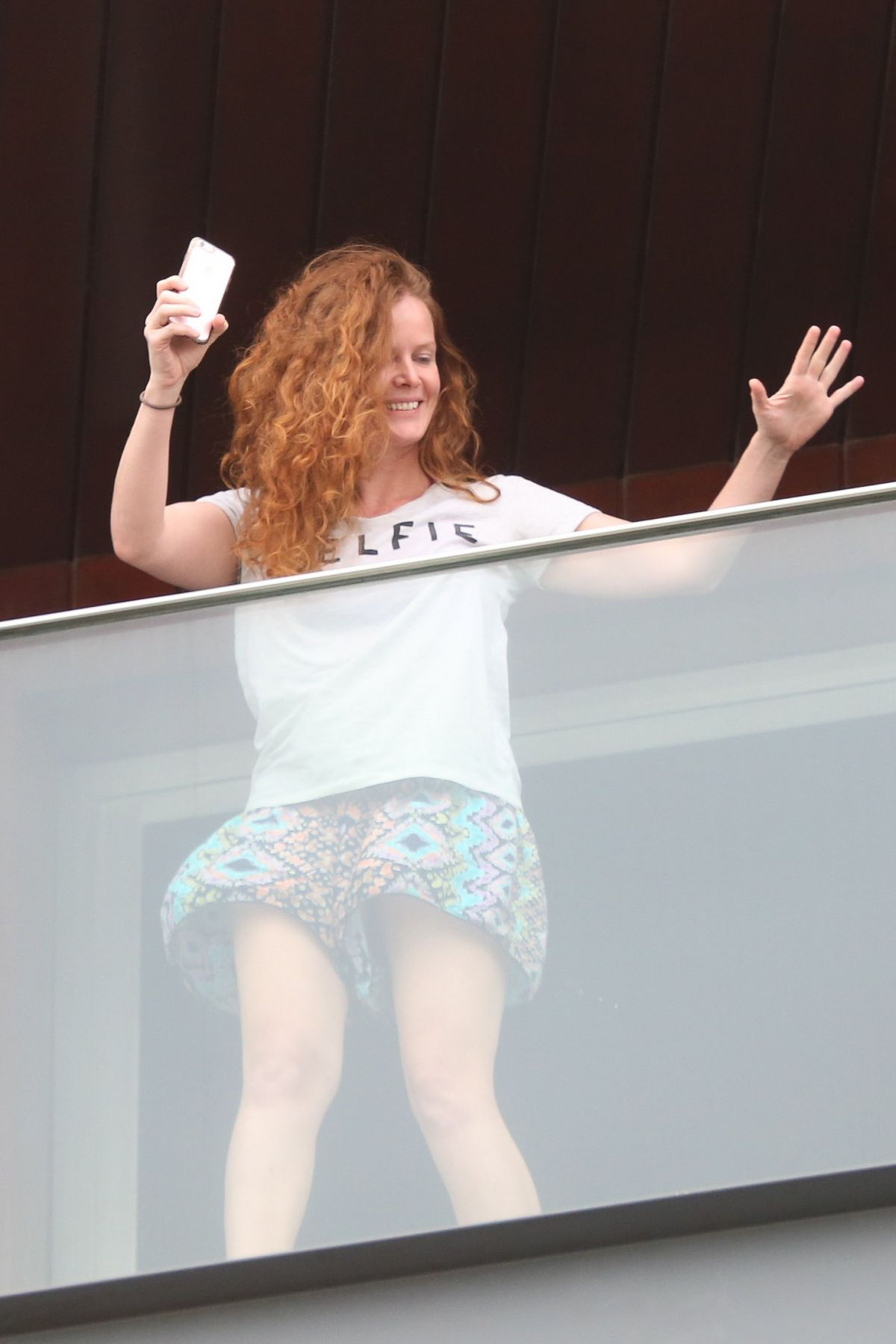 REBECCA MADER at Her Hotel Room Balcony in Rio De Janeiro 06/10/2016