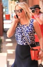 REESE WITHERSPOON in Plaid Skirt Out in Los Angeles 06/20/2016
