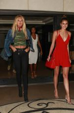 ROMEE STRIJD, JASMINE TOOKES and TAYLOR HILL Leaves Her Hotel in Beverly Hills 06/11/2016