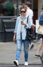 ROSE BYRNE in Jeans Oit in New York 06/29/2016