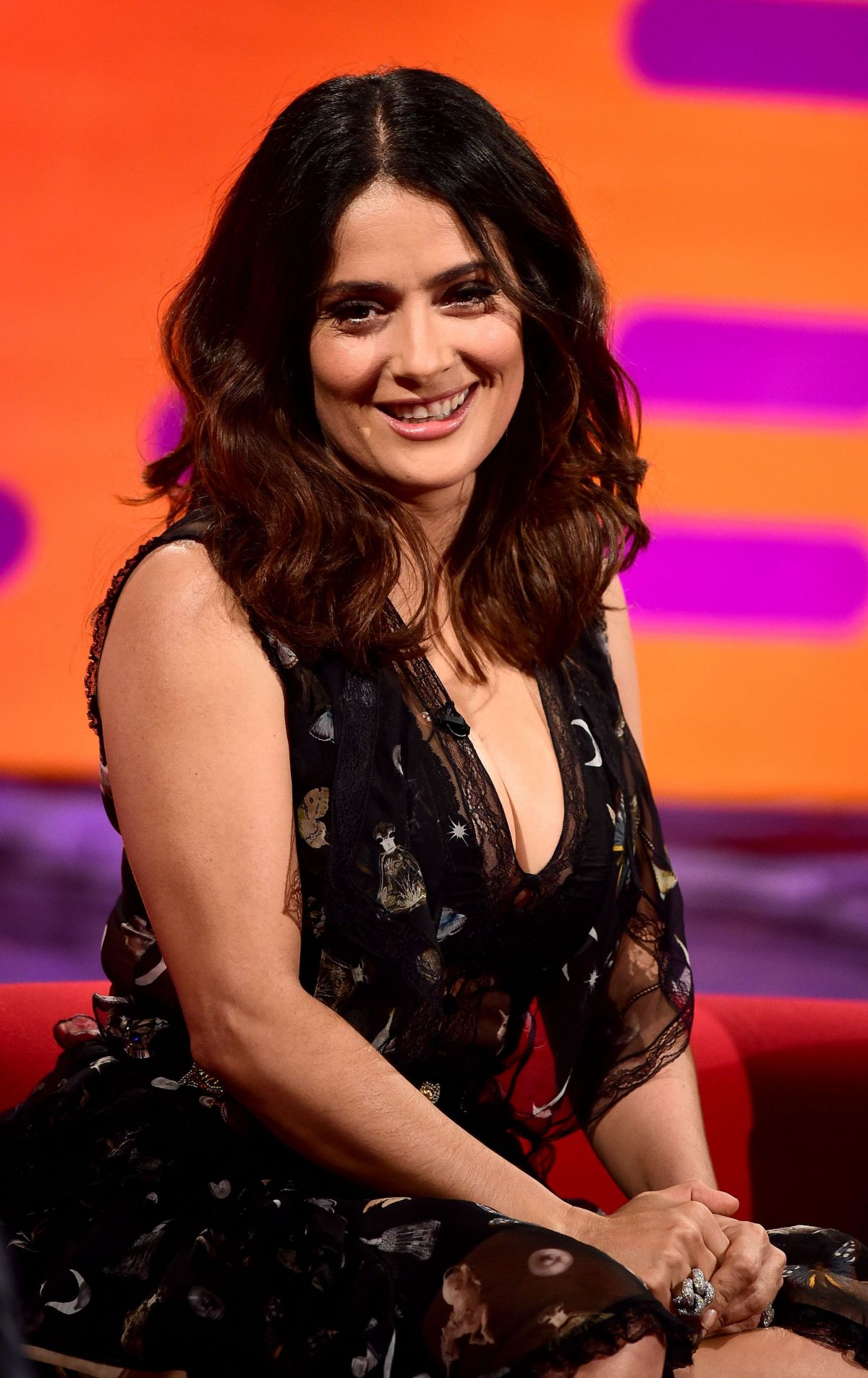 SALMA HAYEK at The Graham Norton Show in London 06/02/2016 ...