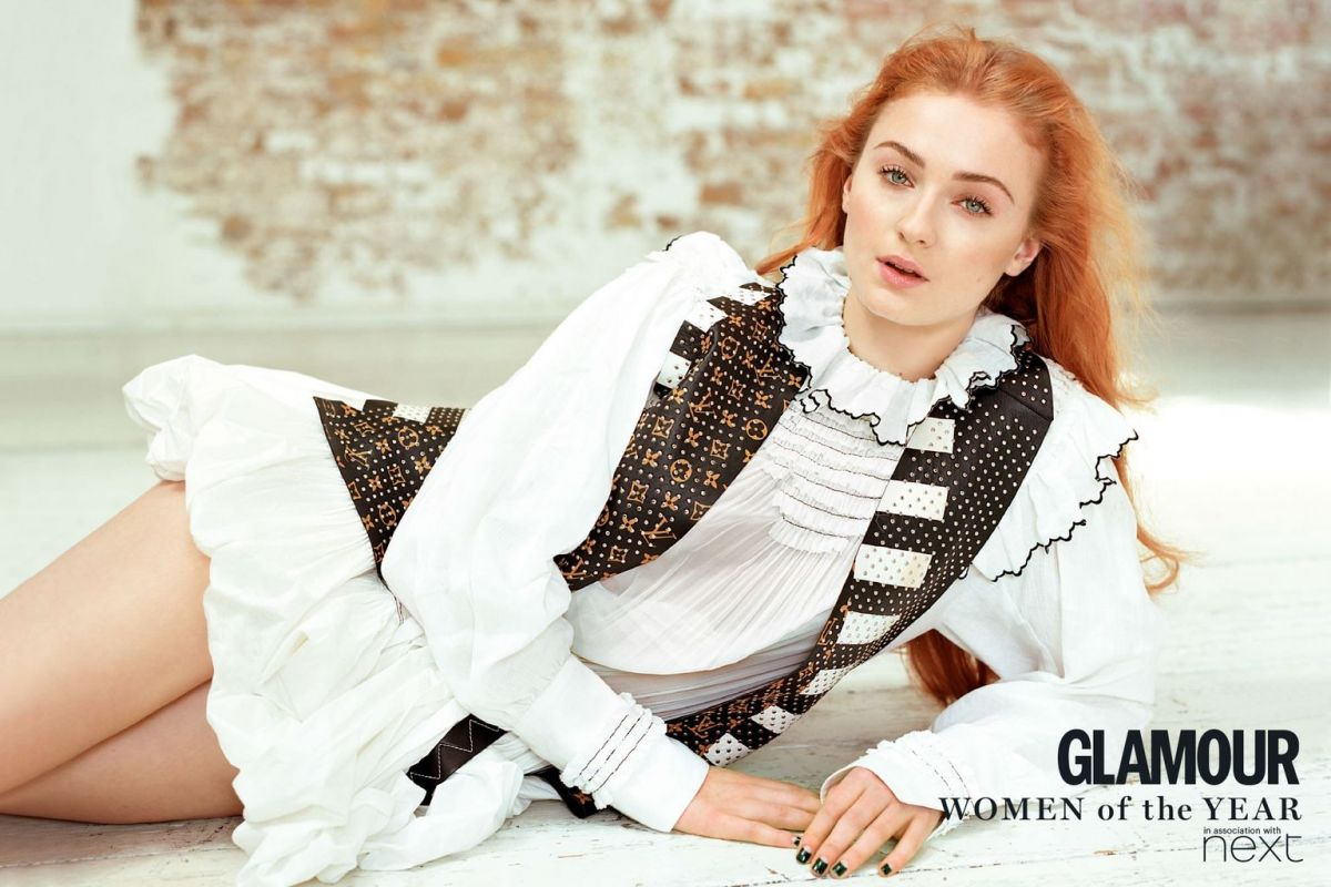 SOPHIE TURNER in Glamour Magazine, UK July 2016 Issue