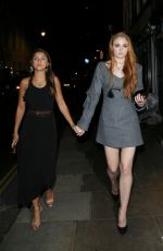 SOPHIE TURNER Leaves Groucho Club in Soho 06/08/2016