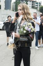 STELLA MAXWELL at Versace Fashion Show in Milan 06/18/2016