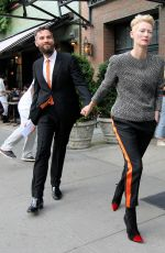TILDA SWINTON Leaves the Bowery Hotel in New York 06/06/2016
