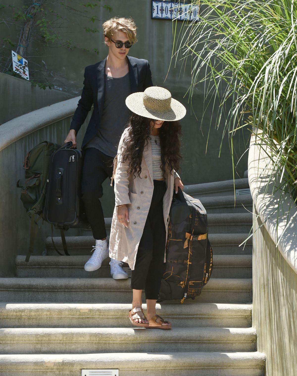 VANESSA HUDGENS Leaves Her House in Los Angeles 06/16/2016 ...