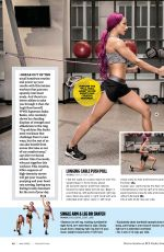 WWE - SASHA BANKS in Muscle & Fitness Hers Magazine, July/August 2016 Issue