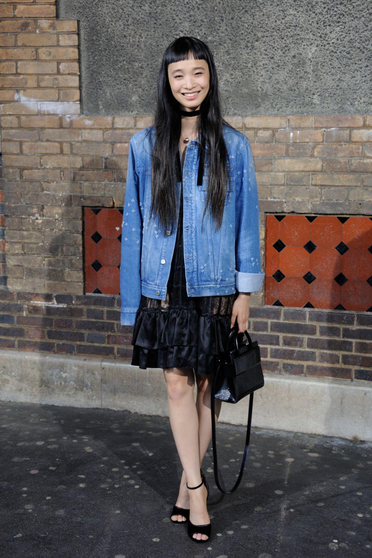YUKA MANNAMI at Gvenchy Fashion Show in Paris 06/24/2016