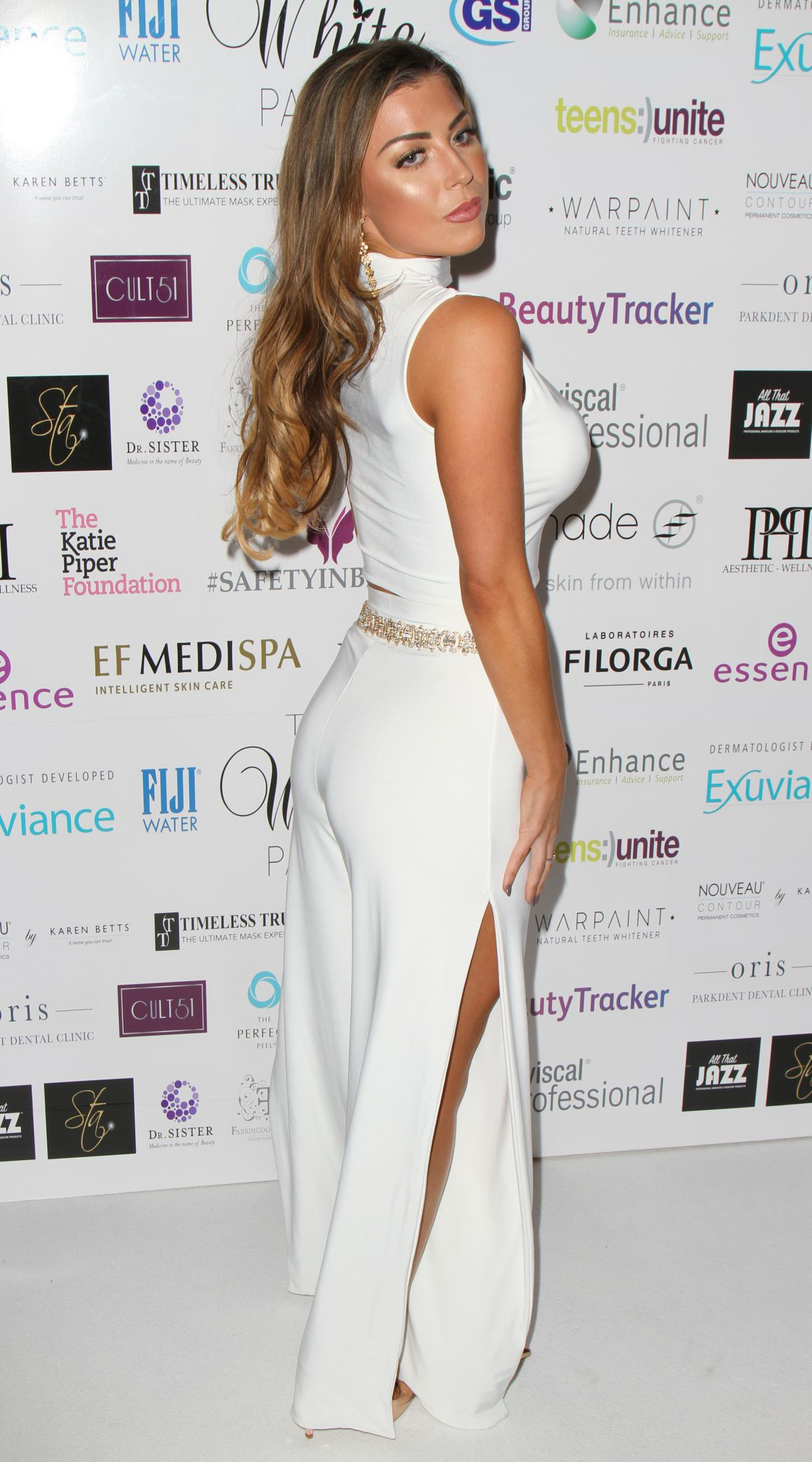 ABIGAIL CLARKE at Beauty Industry London White Party 2016 in Covent Garden 07/02/2016