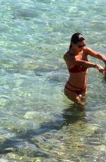 ADRIANA LIMA in Bikini on the Beach in Mykonos 07/10/2016