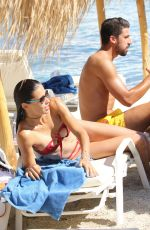 ADRIANA LIMA in Bikini on the Beach in Mykonos 07/10/2016