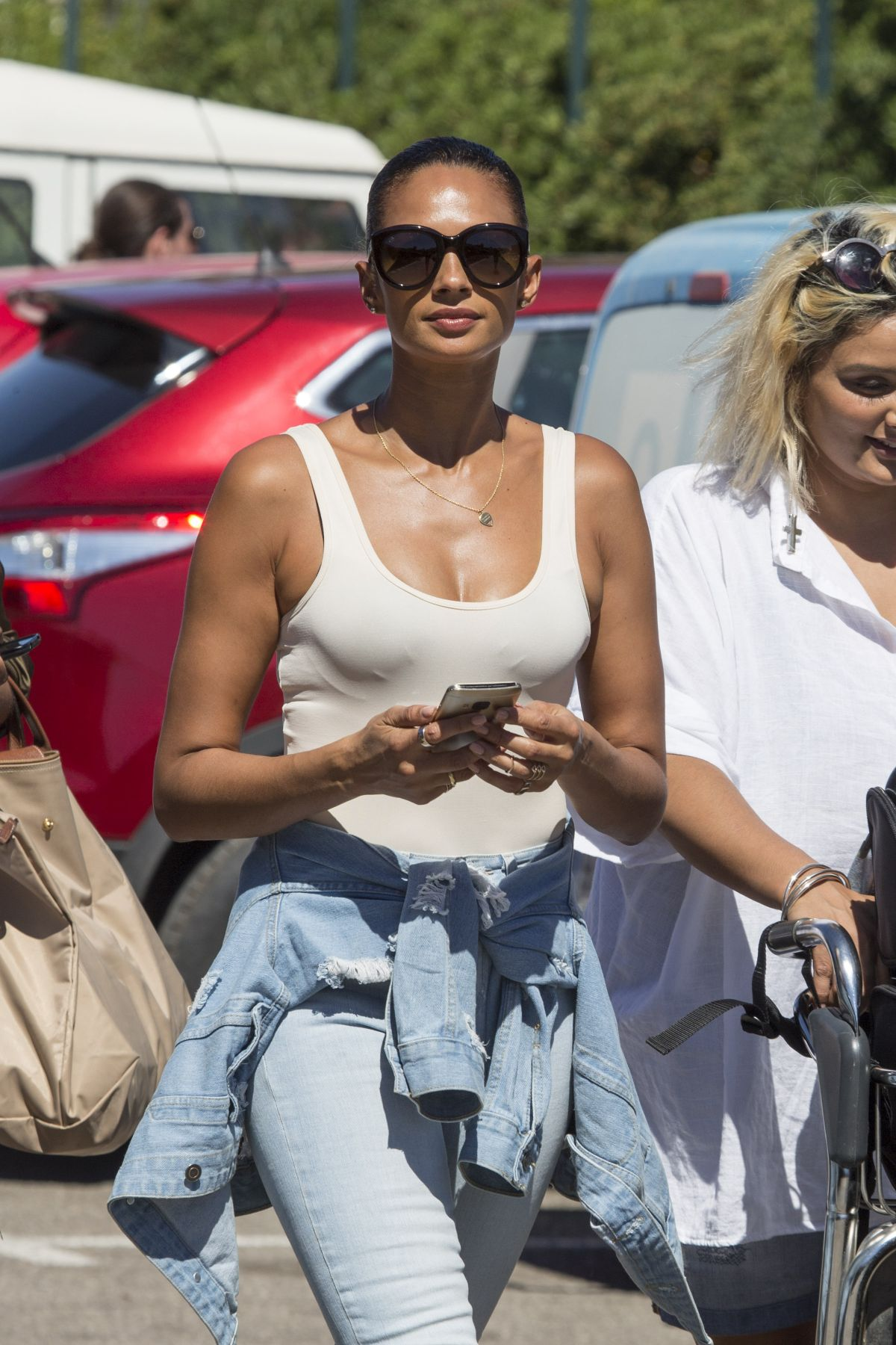 ALESHA DIXON at Airport in Ibiza 07/18/2016