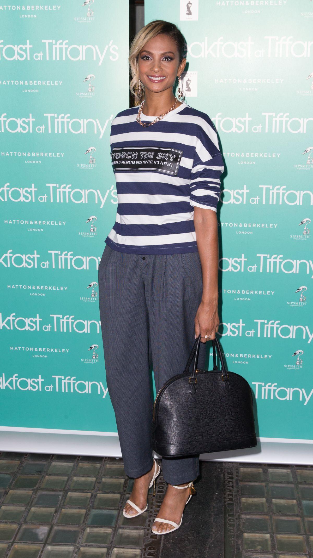 ALESHA DIXON at Breakfast at Tiffany's Press Night in London 07/26/2016