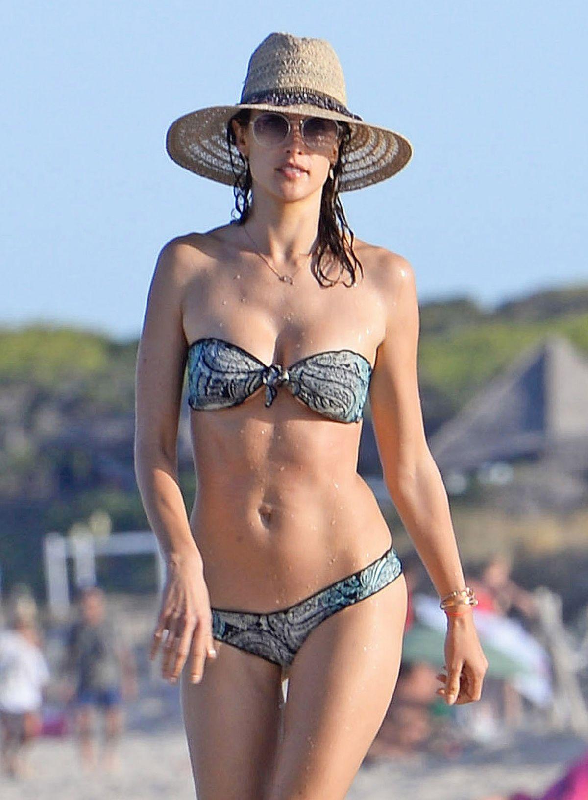 ALESSANDRA AMBROSIO in Bikini at a Beach in Ibiza 07/01/2016