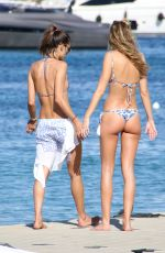 ALESSANDRA AMBROSIO in Bikini at a Beach in Ibiza 07/08/2016