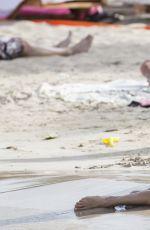 ALESSANDRA AMBROSIO in Bikini on the Beach in Ibiza 07/04/2016