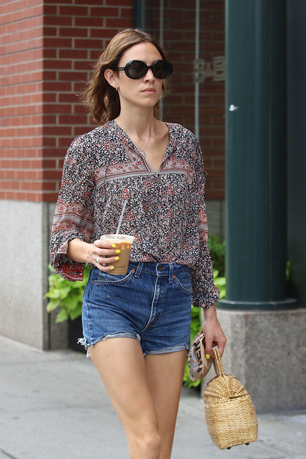 ALEXA CHUN in Denim Shorts Out in New York 07/15/2016