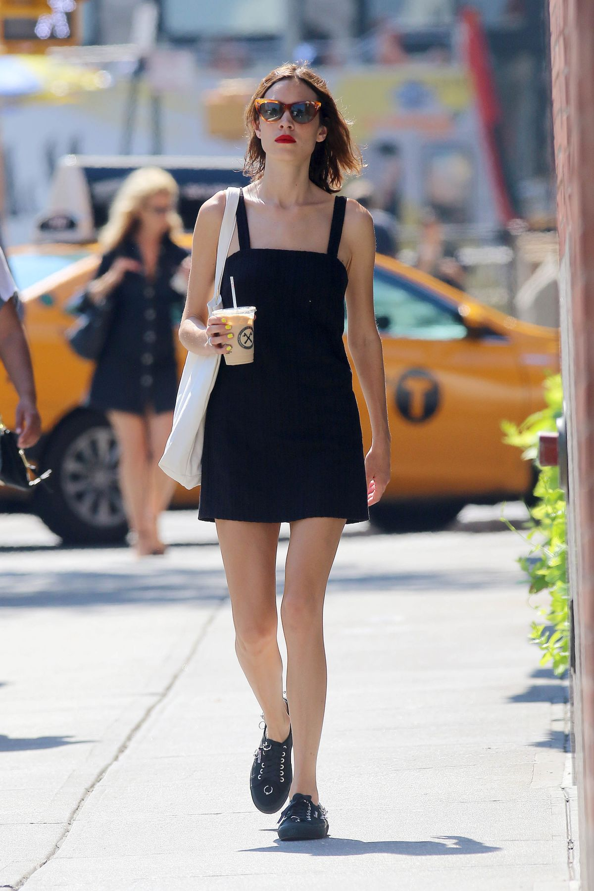 ALEXA CHUNG Out and Abpit in New York 07/18/2016