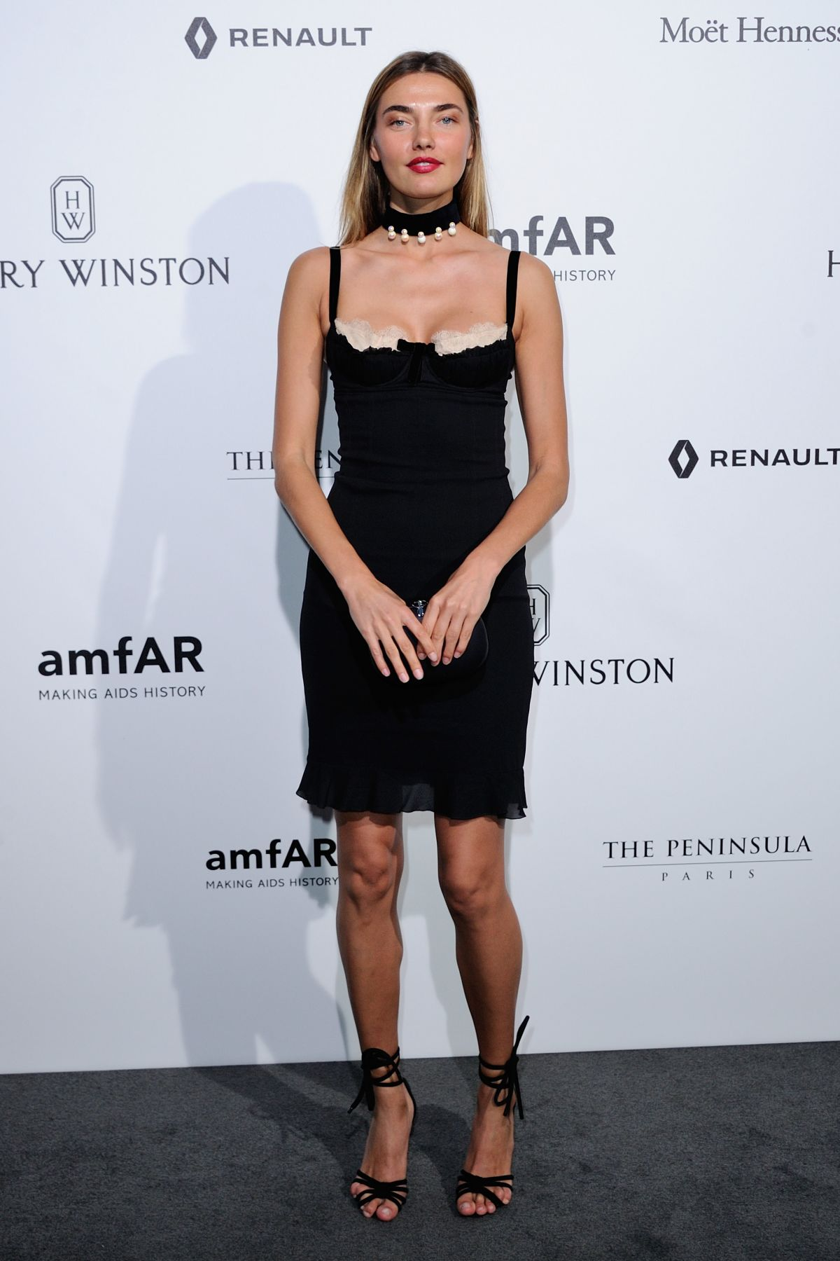 ALINA BAIKOVA at Amfar Paris Dinner in Paris 07/03/2016