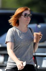 ALYSON HANNIGAN Out and About in Los Angeles 07/18/2016