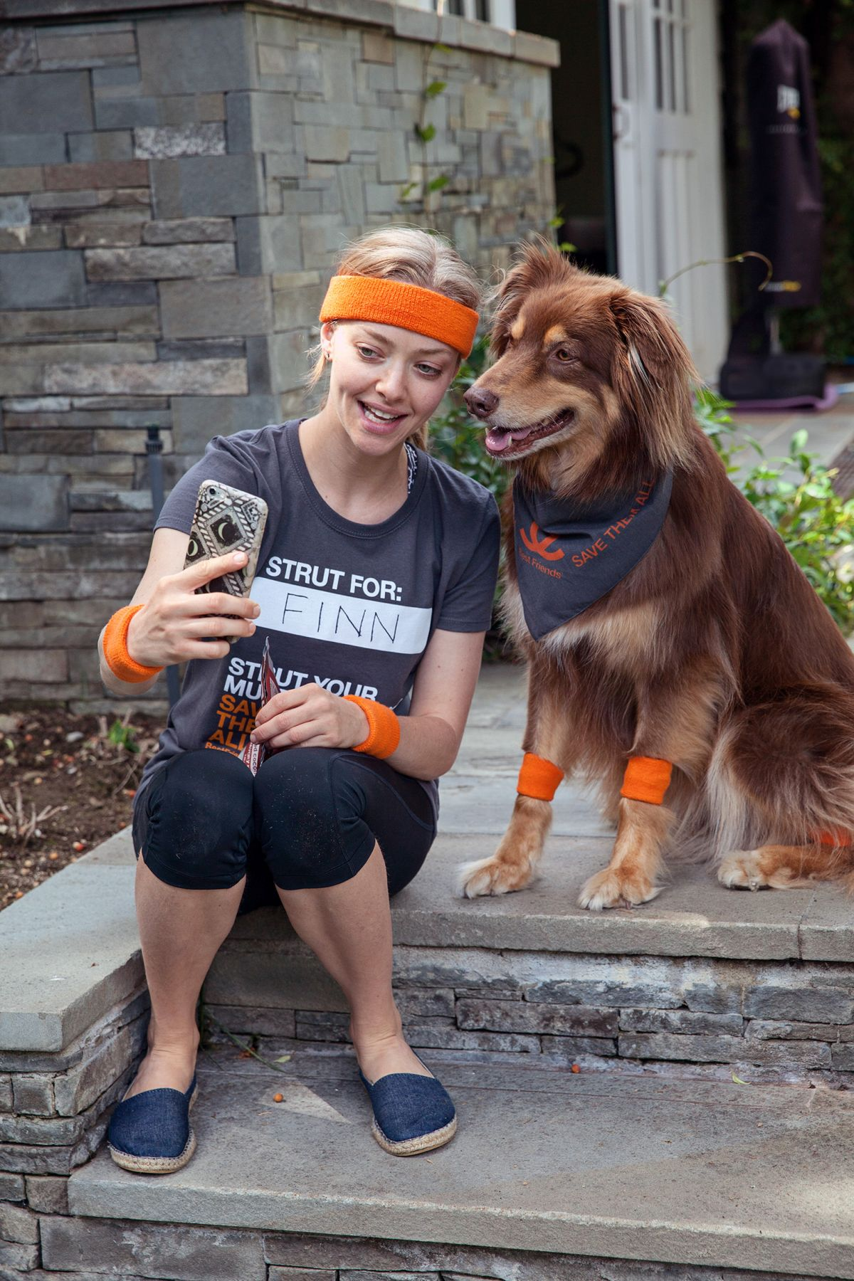 AMANDA SEYFRIED and Finn fos Save the Lives of Shelter Pets Campaign 06/29/2016