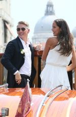 ANA IVANOVIC and Bastian Schweinsteiger at Wedding Ceremony in Venice 07/12/2016