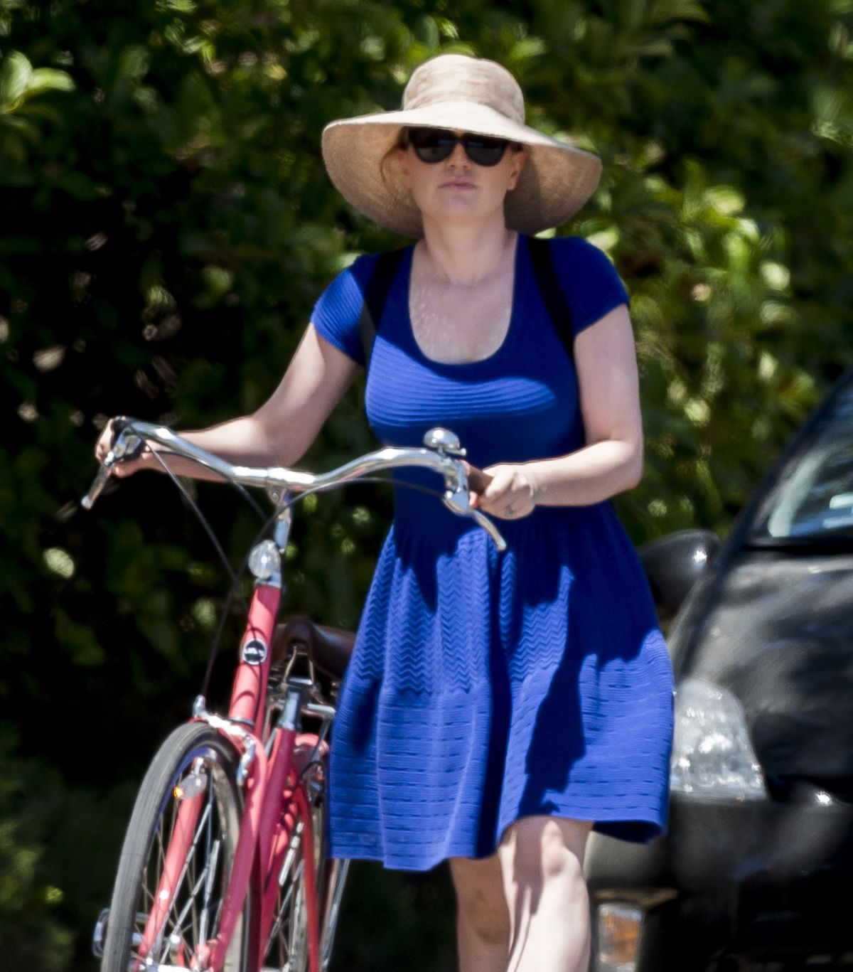 ANNA PAQUIN Riding a Bike Out in Los Angeles 07/05/2016