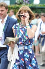 ANNA WINTOUR Arrives at Tennis Championships in Wimbledon 07/04/2016