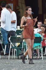 AURORA HUNZIKER-RAMAZZOTTI Out in Portofino 07/06/2016