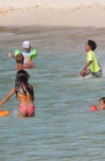 BELLA HADID in Bikini at a Beach in St. Barts 07/17/2016