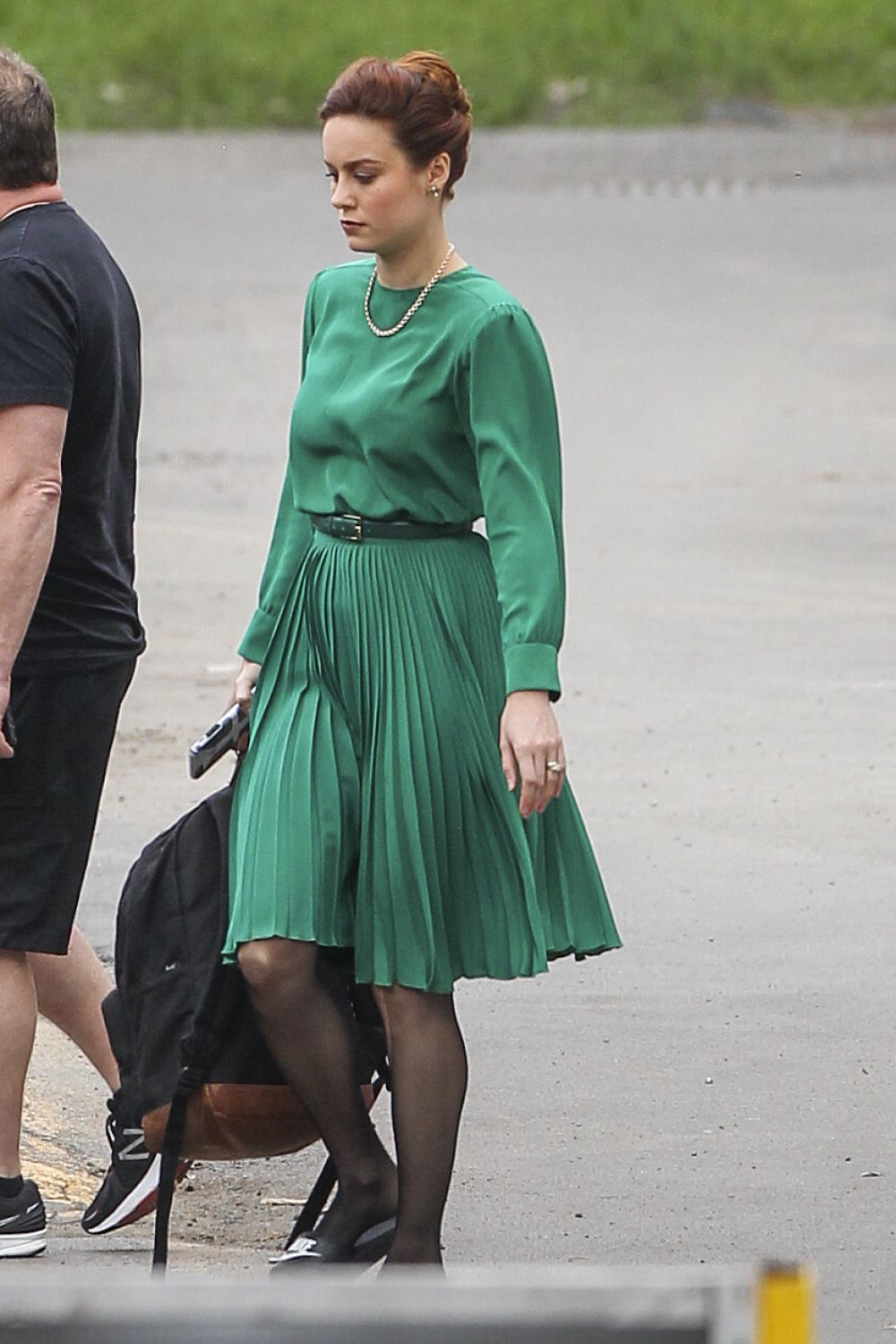 BRIE LARSON on the Set...