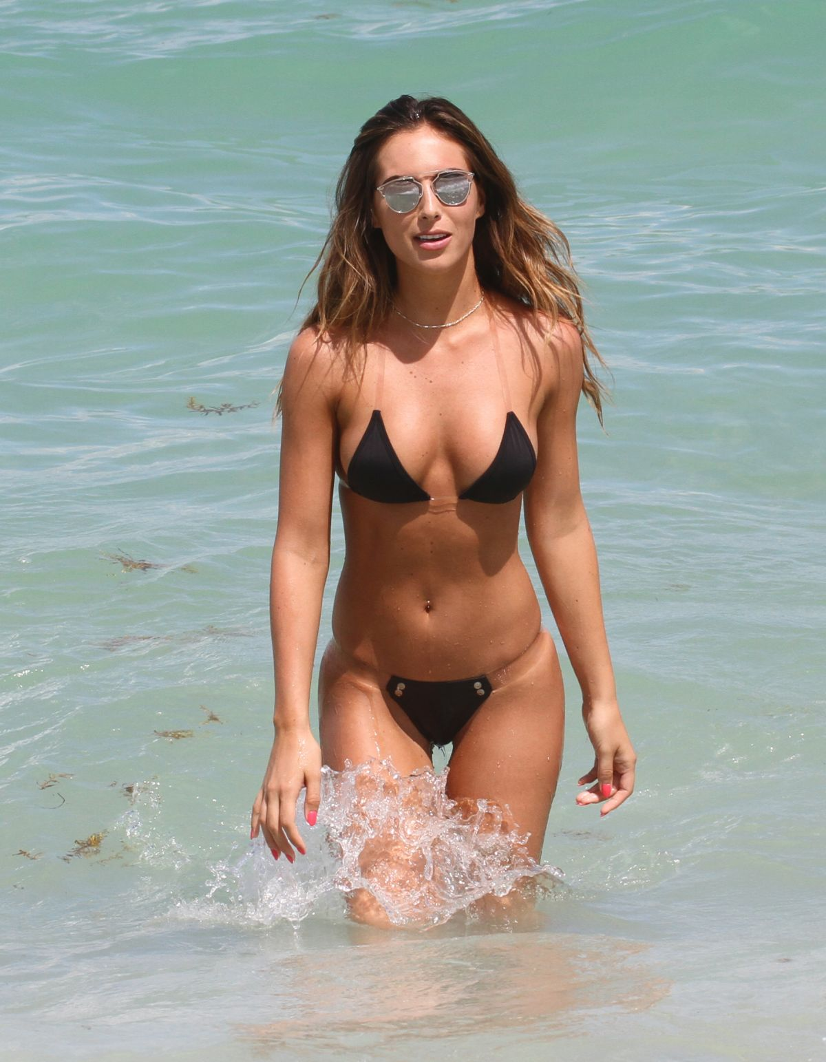 BRITTNY WARD in Bikini at a Beach in Miami 07/16/2016
