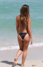 BRITTNY WARD in Bikini at a Beach in Miami 07/16/2016