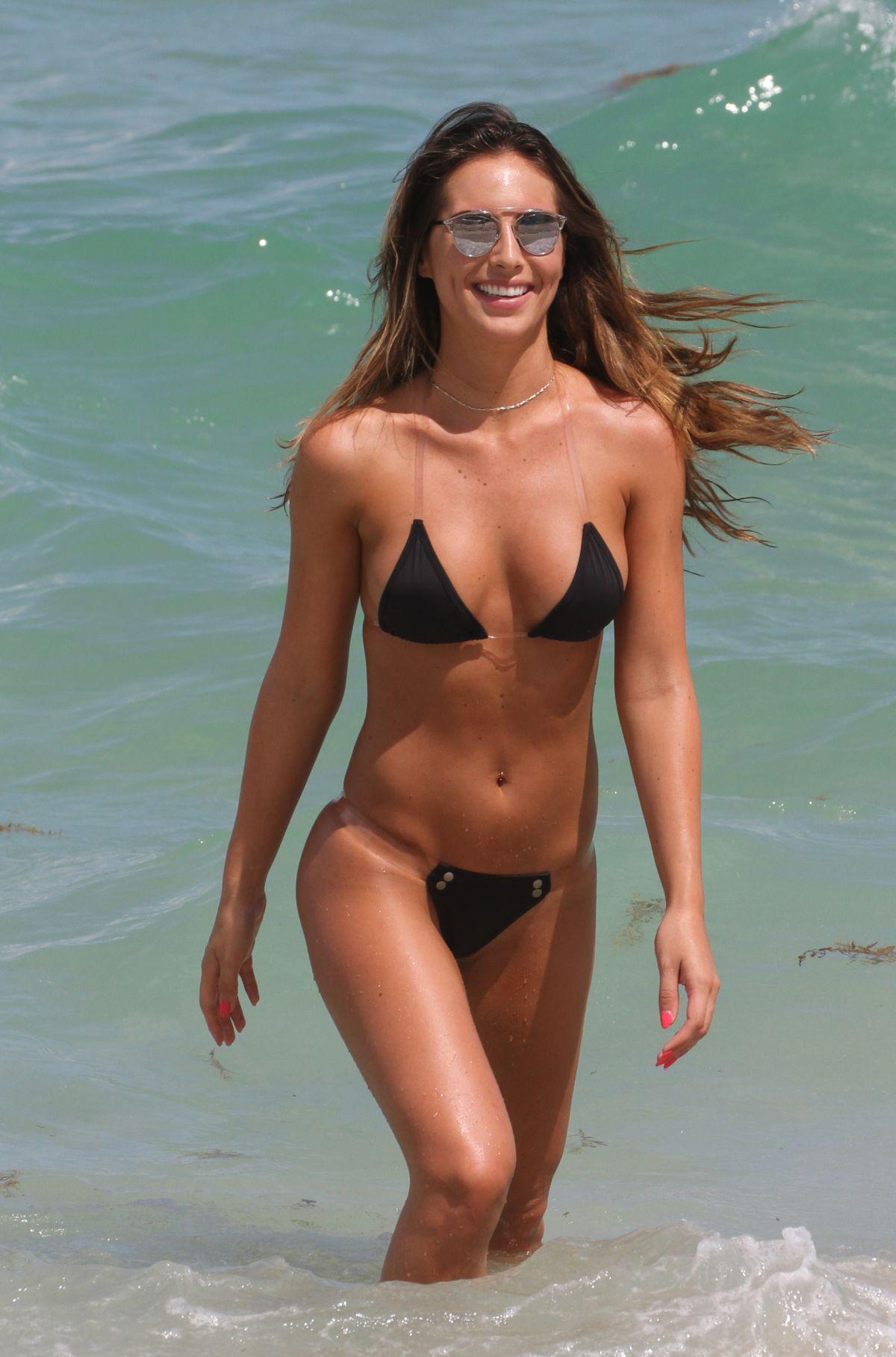 BRITTNY WARD in Bikini at a Beach in Miami 07/16/2016 - HawtCelebs ...