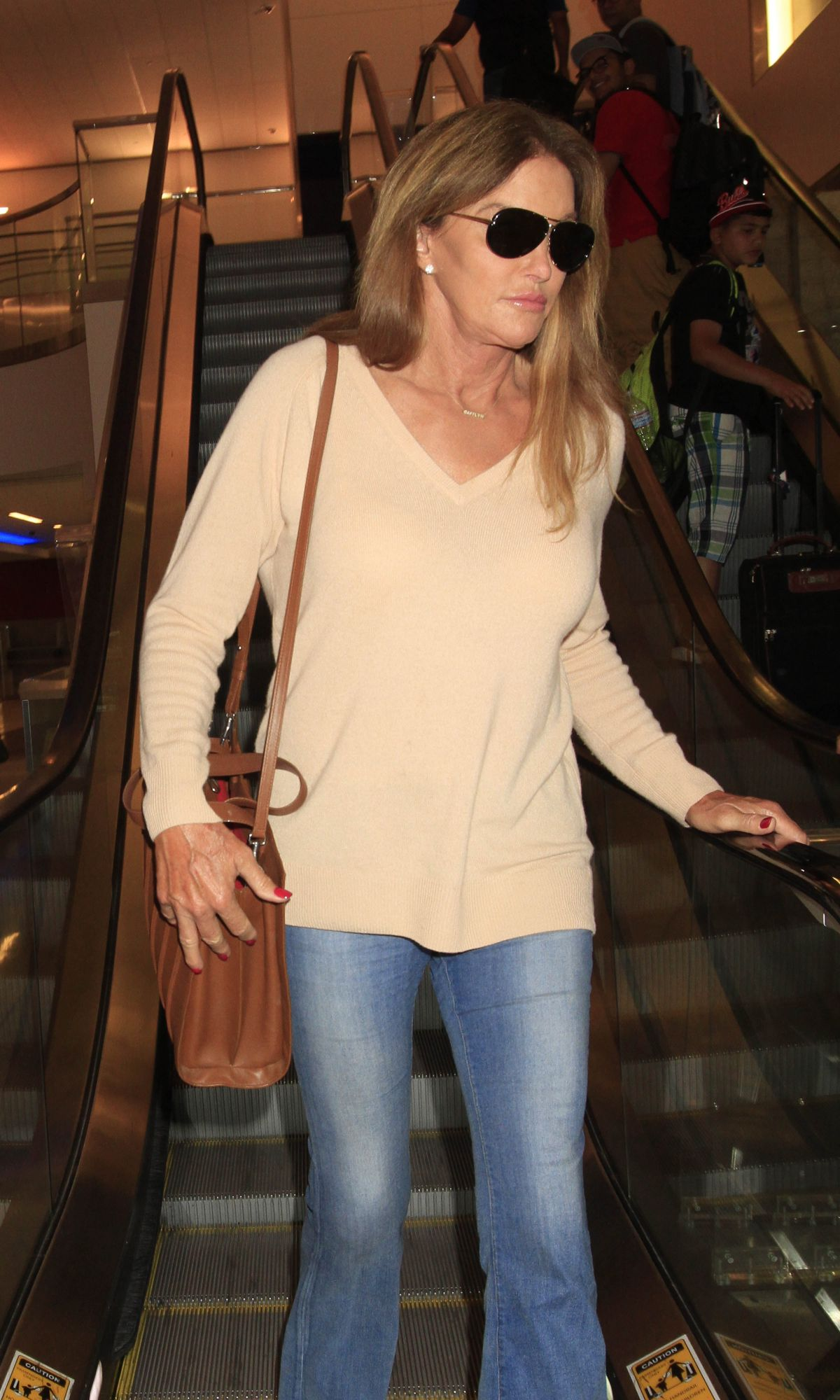 CAITLYN JENNER at LAX Airport in Los Angeles 07/01/2016