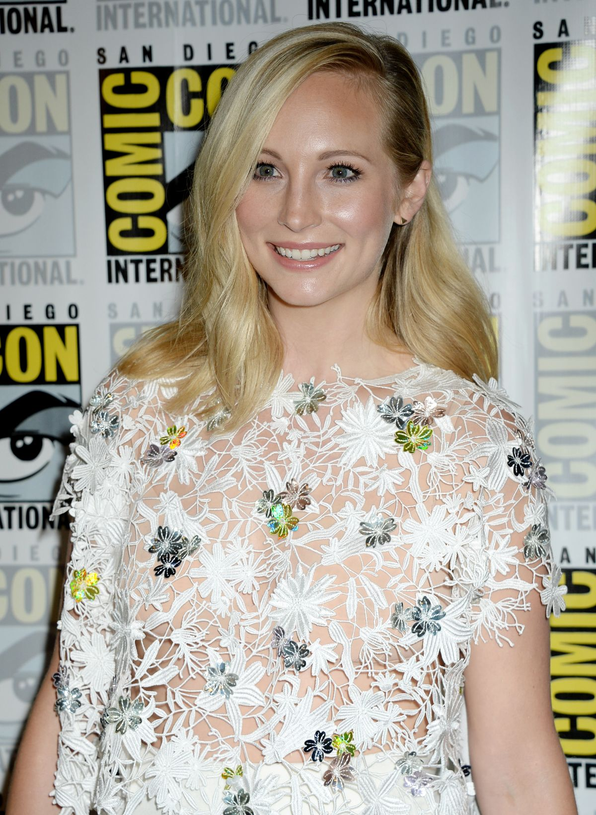 CANDICE KING at The Vampire Diaries Press Line at Comic-con in San Diego 07/23/2016