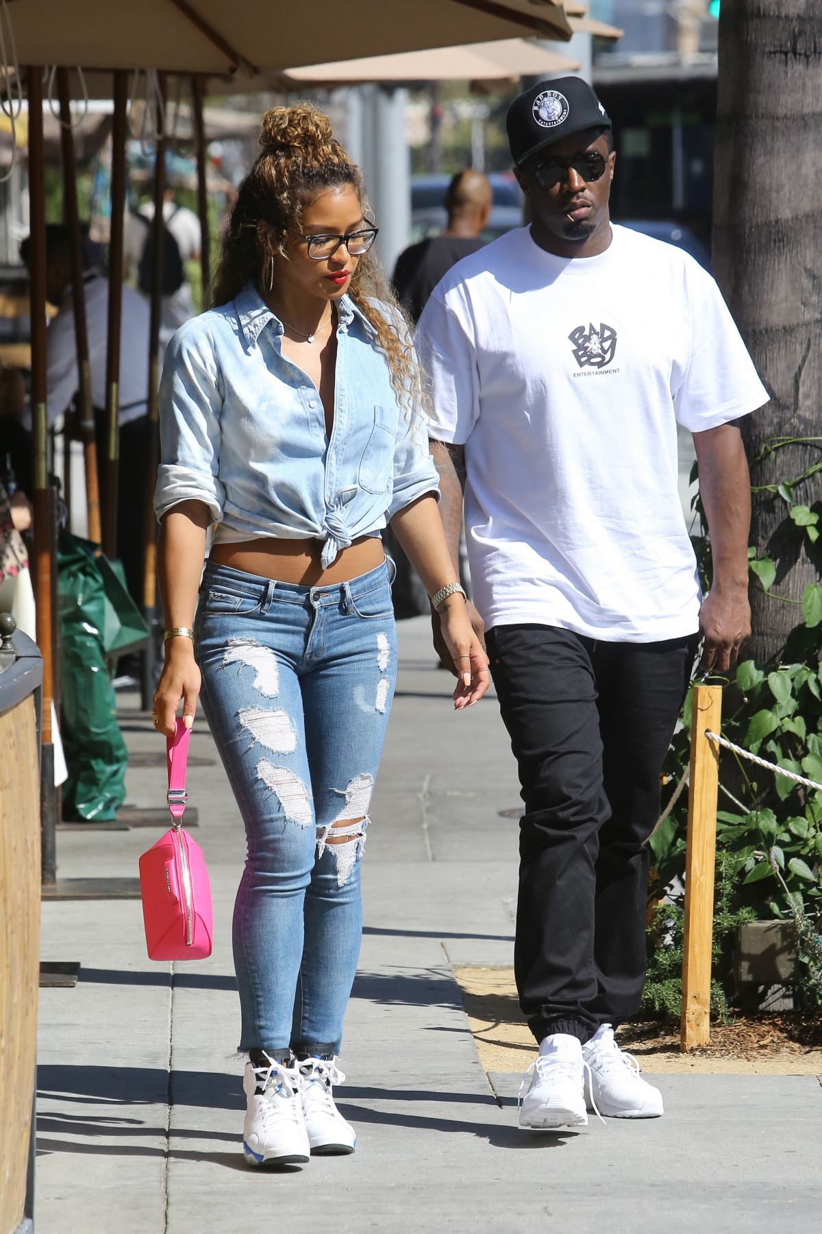 Cassie Ventura And P Diddy Out In Beverly Hills July 6