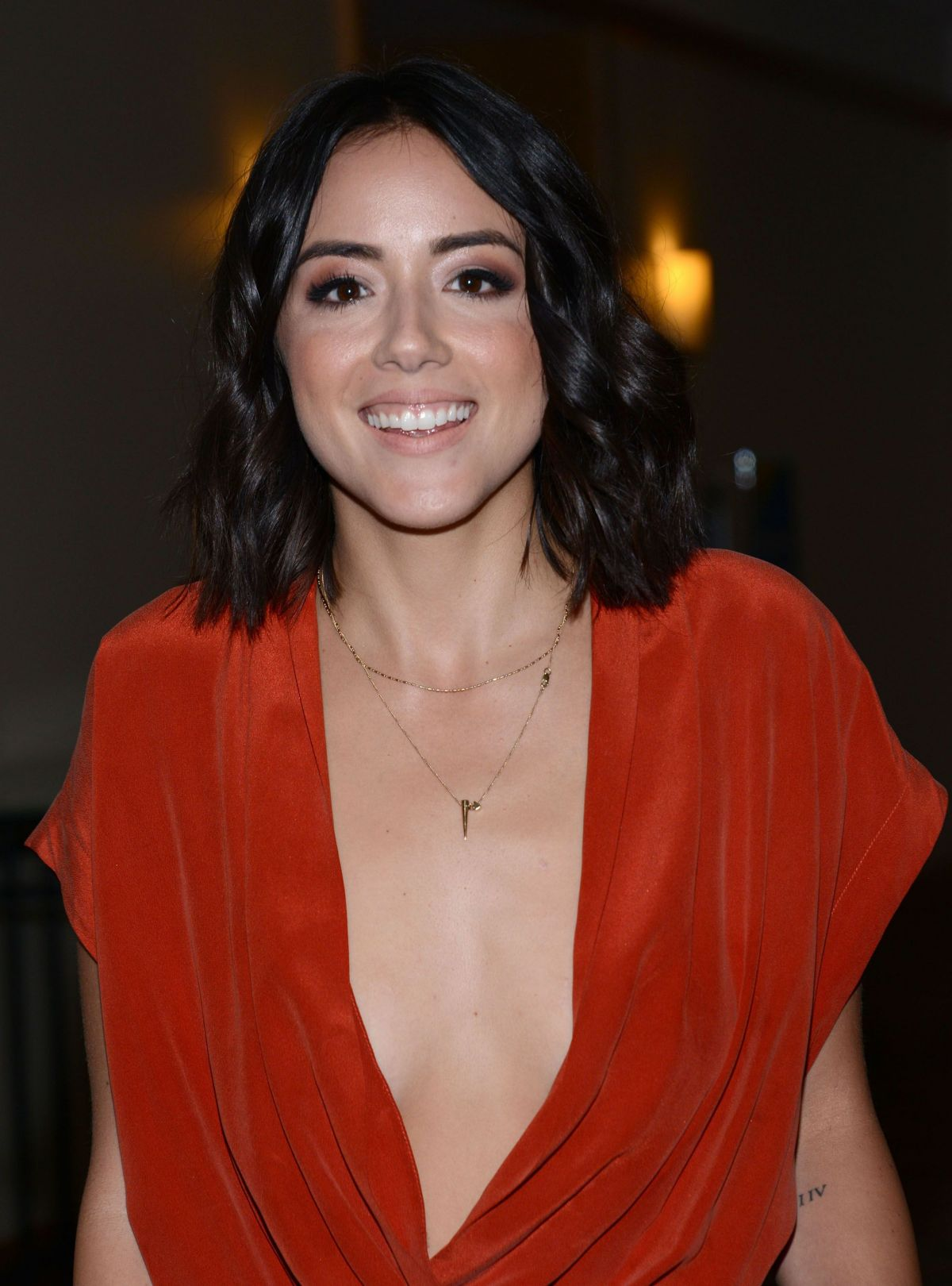 CHLOE BENNET at Agents of s.h.i.e.l.d. Press Line at Comic ...  CHLOE BENNET at...