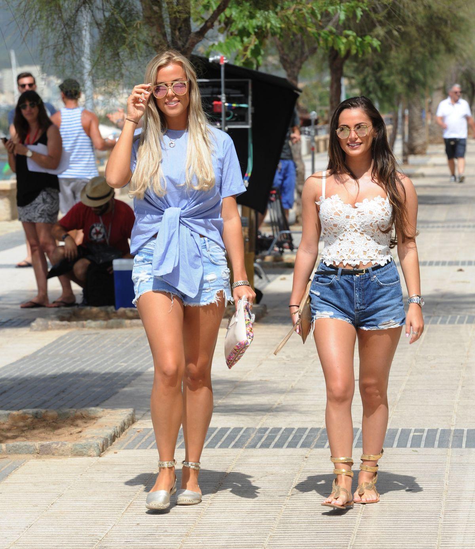 Megan Mckenna In cut off Out in Mallorca - Celebzz - Celebzz