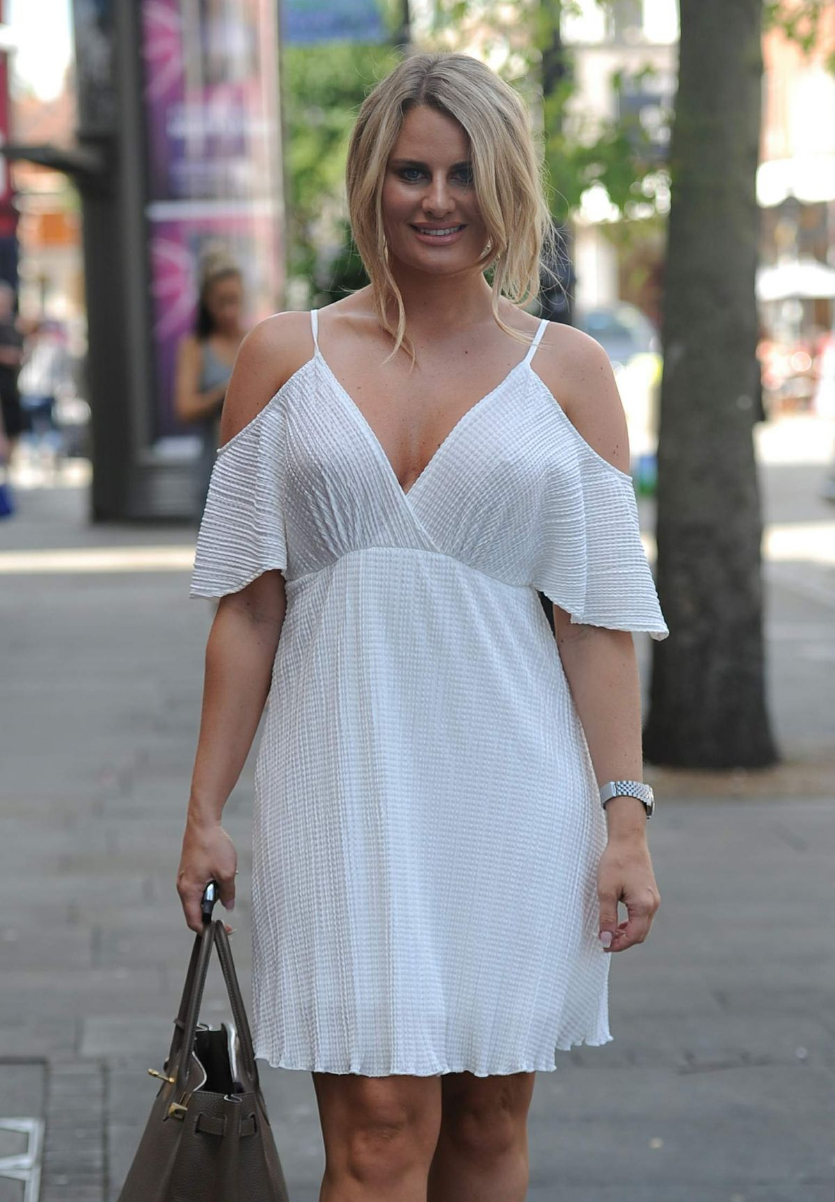 DANIELLE ARMSTRONG on the Set of Towie in Essex 07/18/2016