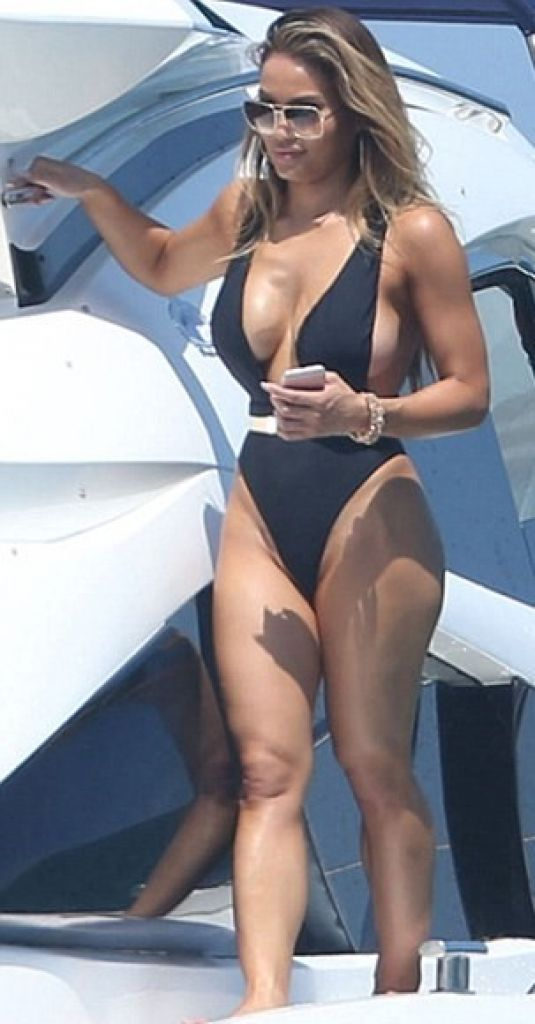 DAPHNE JOY in Swimsuit at a Yacht 06/30/2016