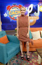 EMMA ROBERTS on the Set of Despierta América in Miami 07/13/2016