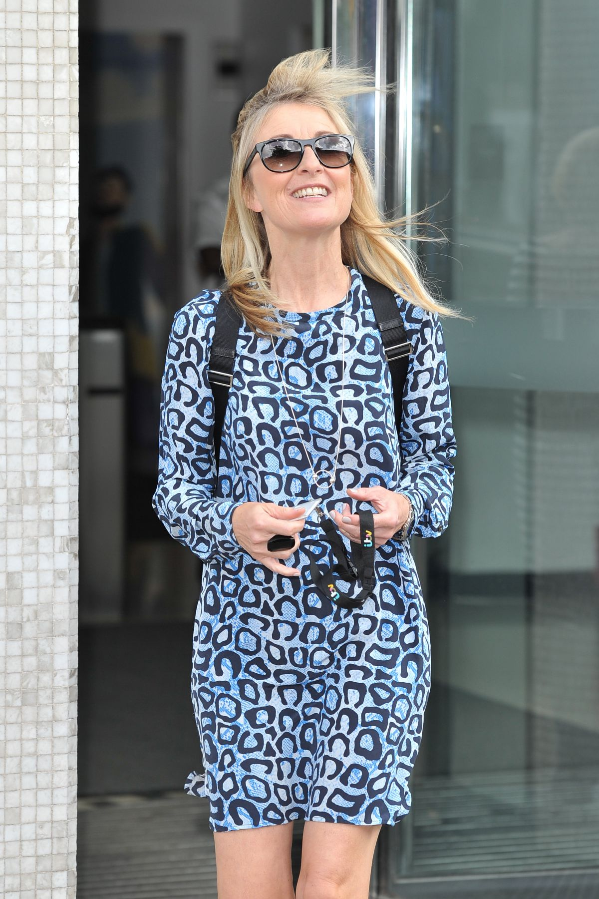 FIONA PHILLIPS Leaves ITV Studios in London 07/25/2016