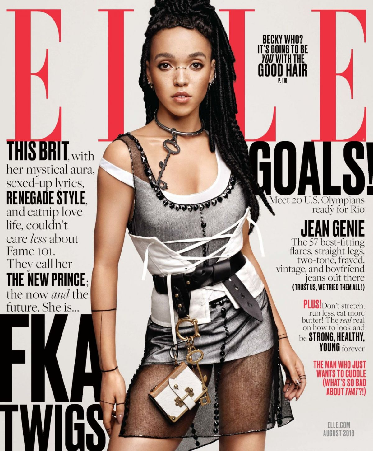 FKA TWIGS in Elle Magazine, August 2016 Issue