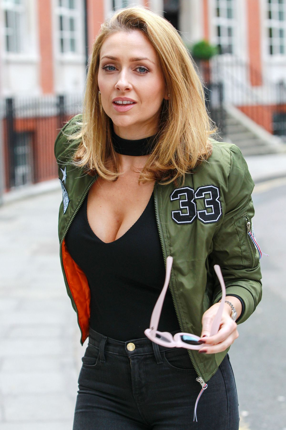 GEMMA MERNA Out and About in London 07/04/2016